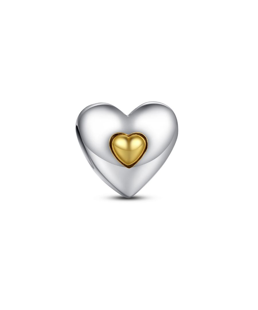 Image for Heart Charms Bead and Little Golden Heart