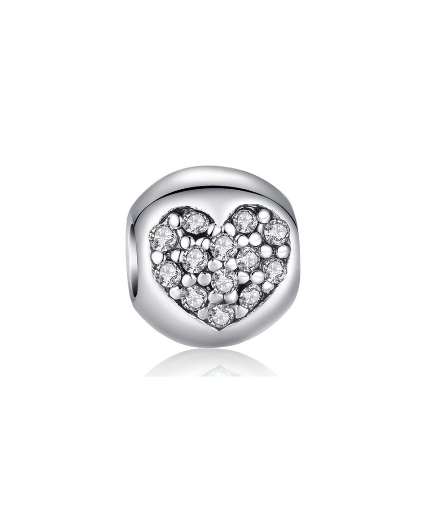 Image for White Crystal Heart Beads