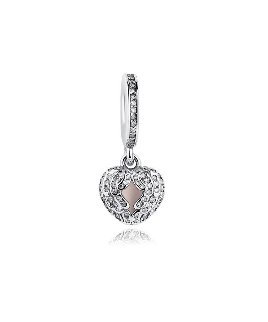 Image for 925 Silver Heart Pendant Charms bead