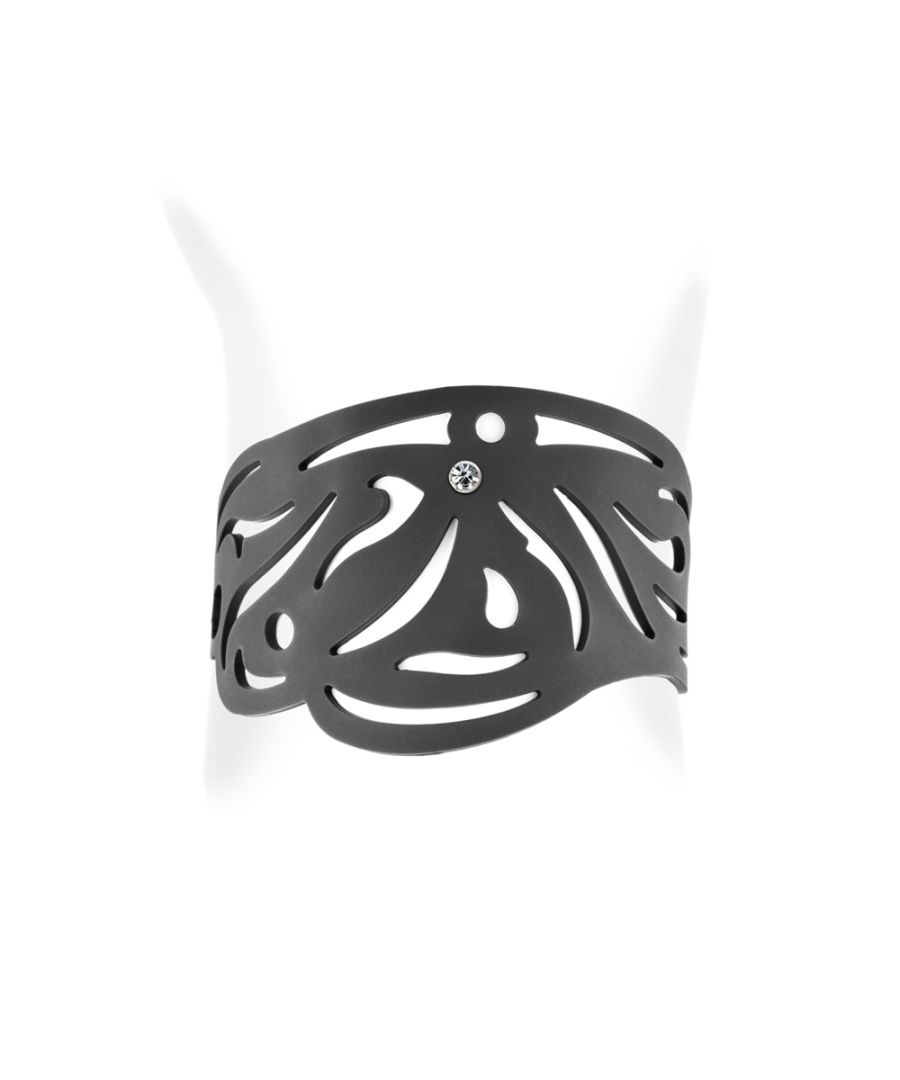Image for Black Silicone Gum Tribal Bracelet Effect Tatto
