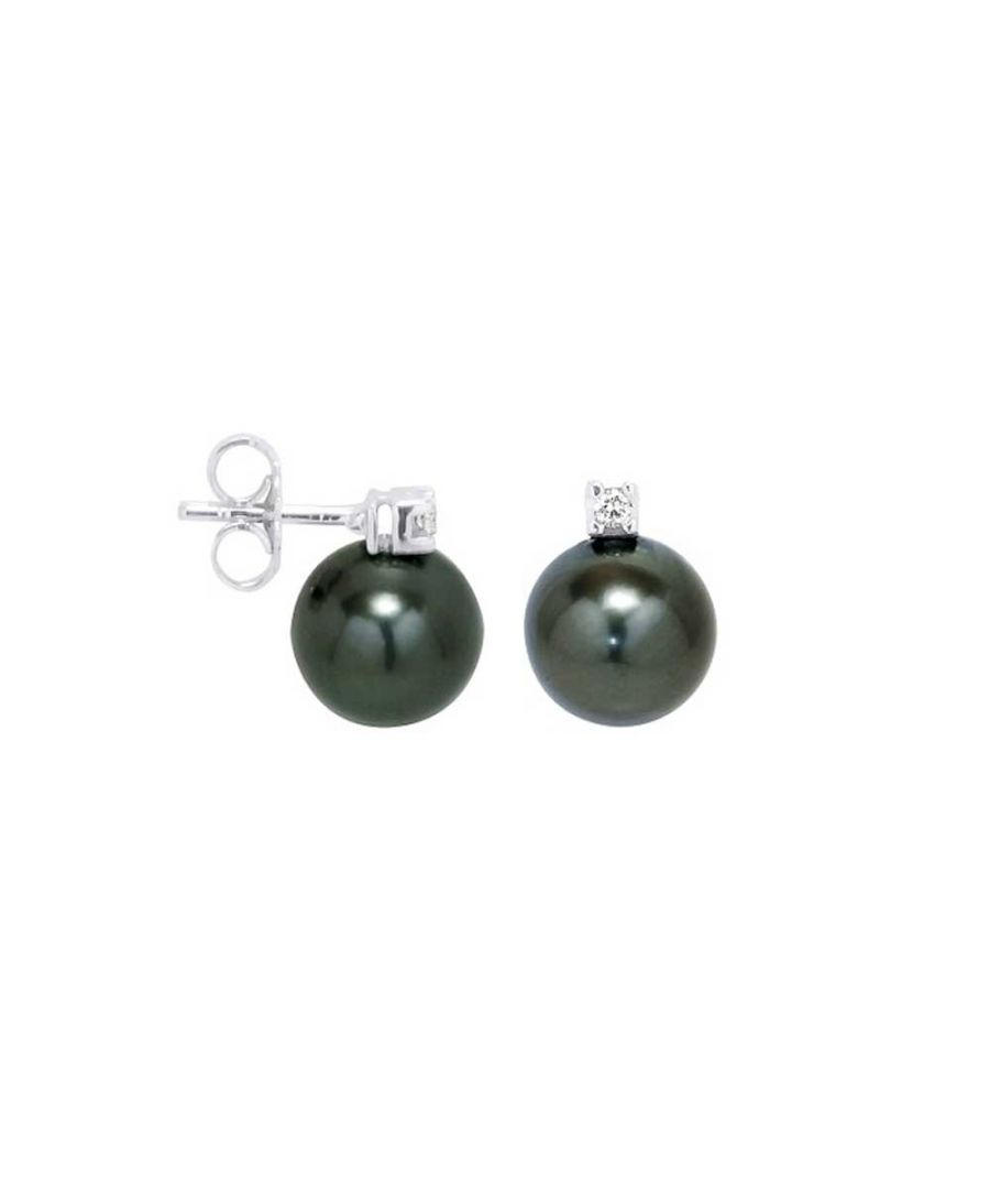 Image for Tahitian Pearls Diamond Earrings and white gold 750/1000