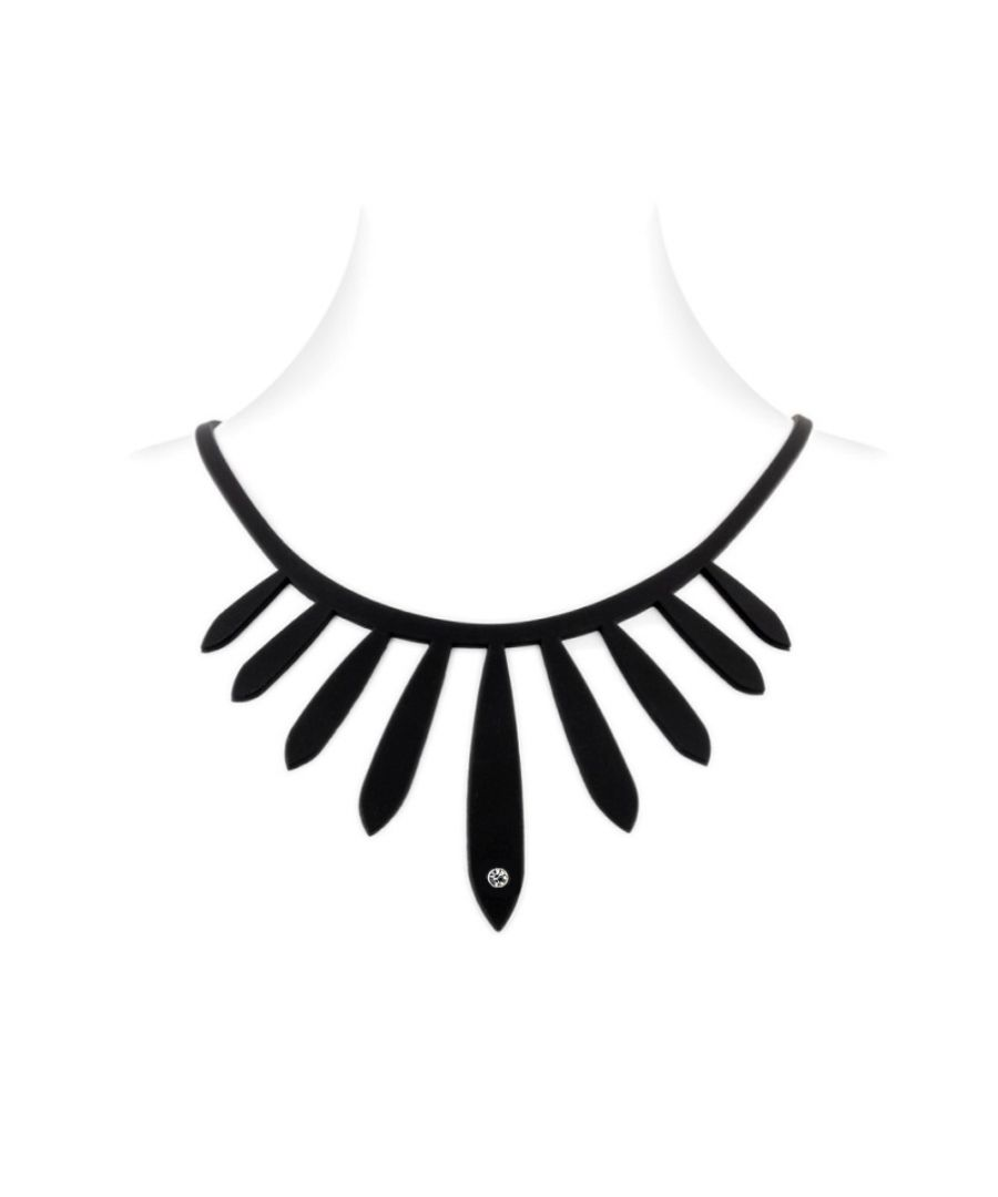 Image for Black Silicone Gum Ethnic Necklace Effect Tatto
