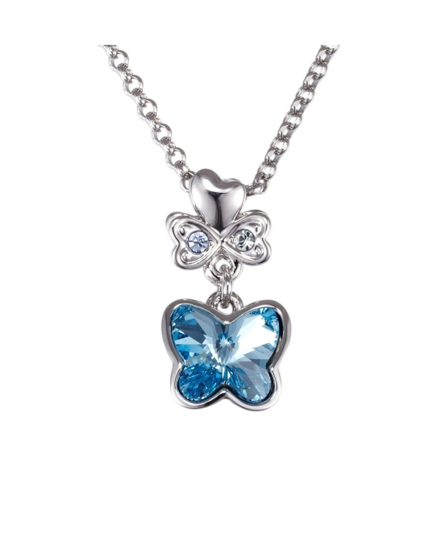 Image for Swarovski - Blue Swarovski Crystal Element Butterfly Pendant