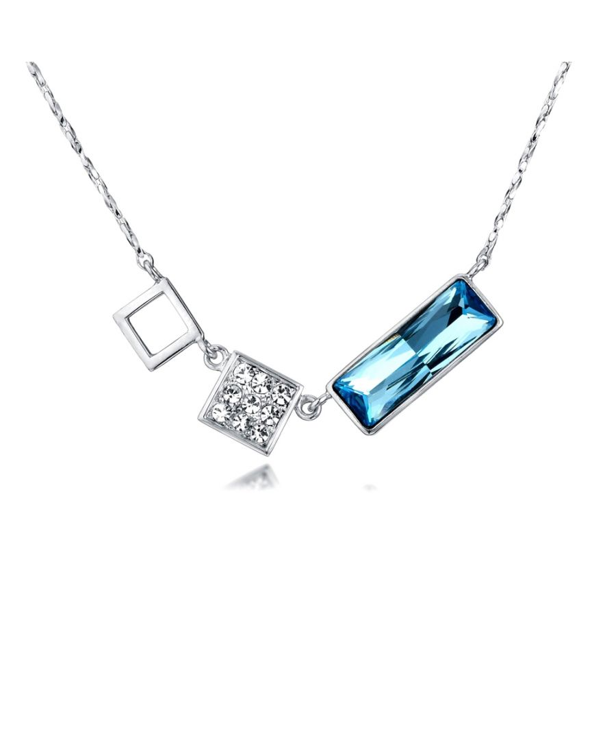 Image for Swarovski - Blue and White Swarovski Crystal Elements Necklace