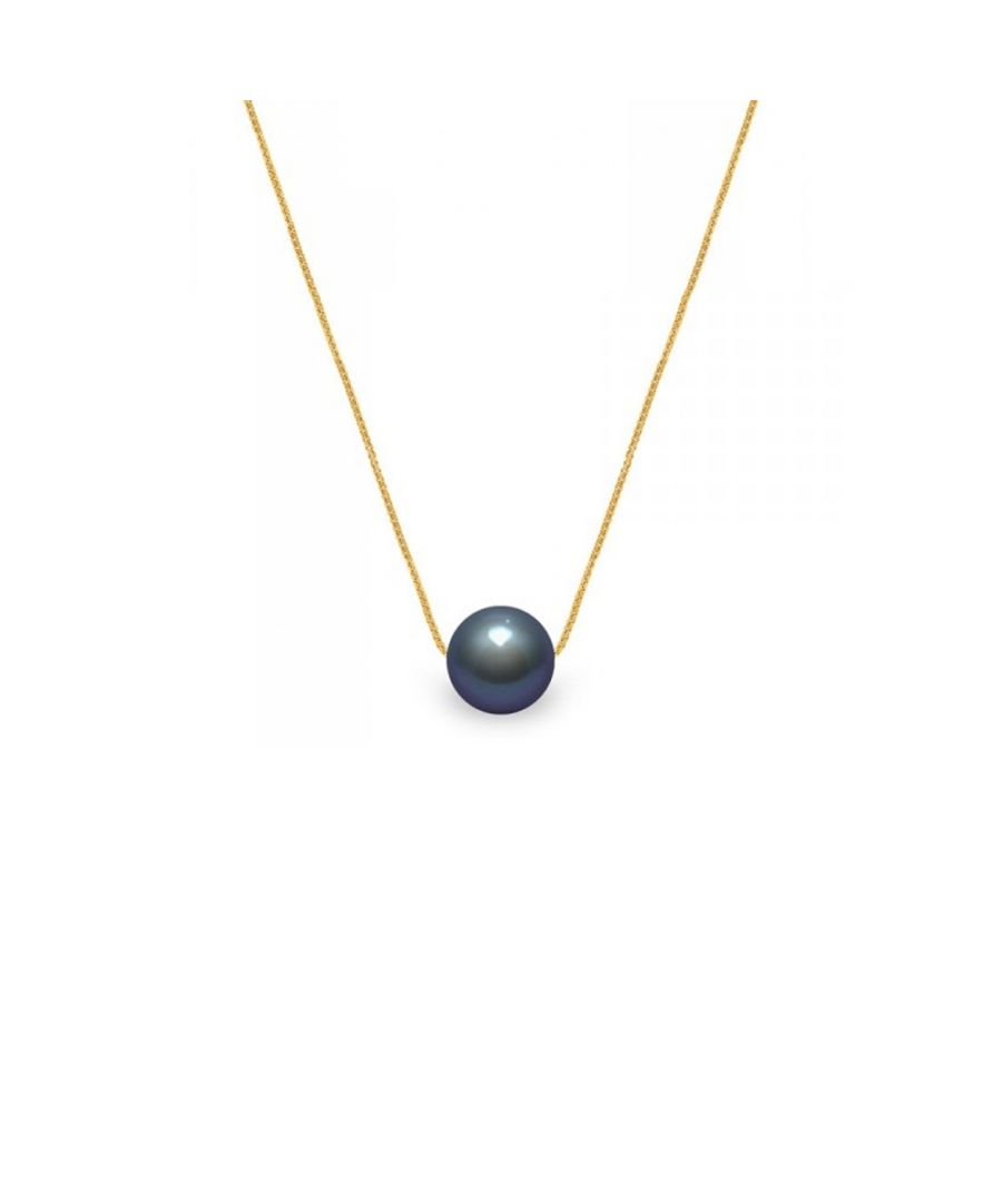 Image for 750/1000 yellow gold Venitian Chain and Black Freshwater Cultured Pearl Woman Choker Necklace