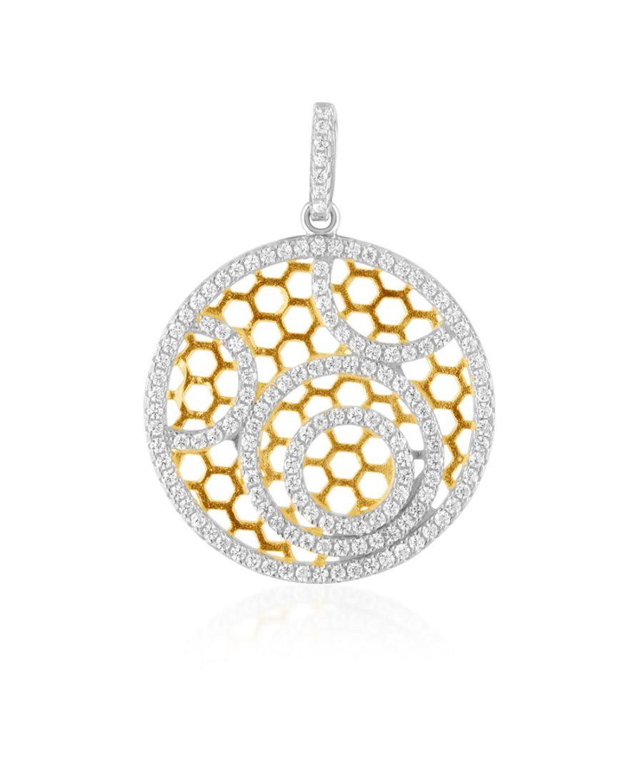 Image for Swarovski - 142 White Swarovski Crystal Zirconia and 925 Silver Pendant