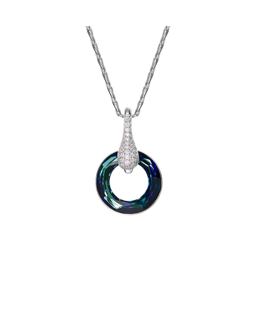 Image for Swarovski - Blue Swarovski Crystal Elements Circle Pendant