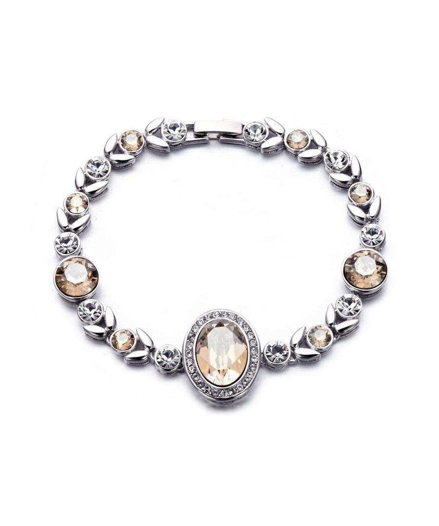 Image for Swarovski - White and Champagne Swarovski Crystal Elements Bracelet