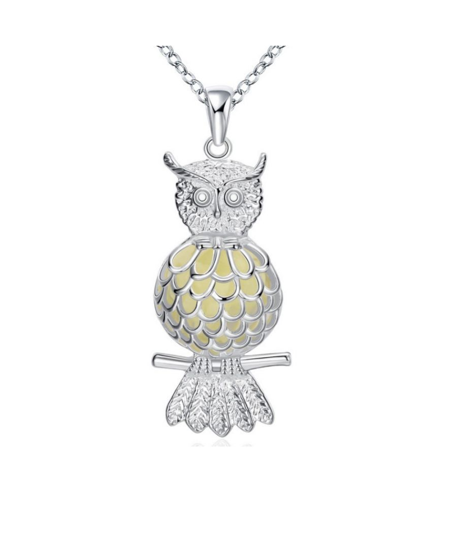 Image for Fluorescent Owl Pendant