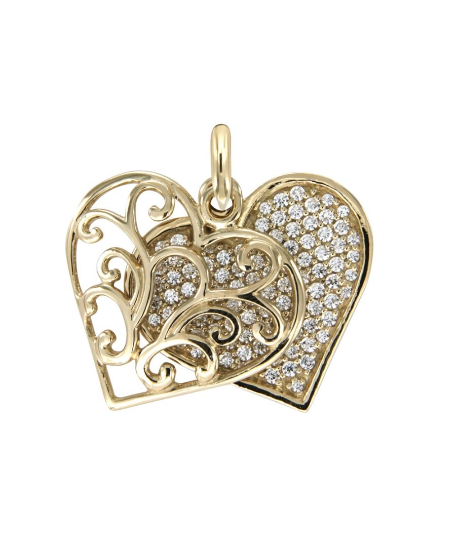 Image for Swarovski - White Swarovski Crystal Elements and 925 Silver and Gold Heart Pendant