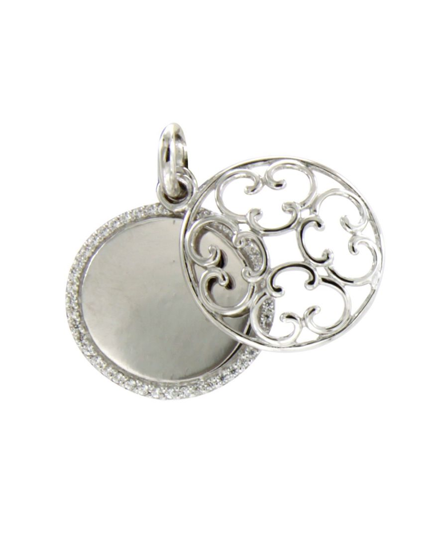 Image for Swarovski - White Swarovski Crystal Elements and 925 Silver circle Pendant