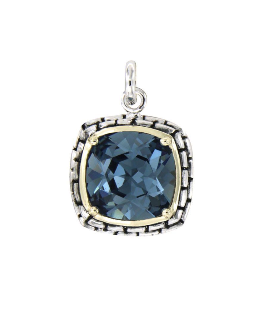 Image for Swarovski - Blue Swarovski Elements Crystal and 925 Silver Pendant