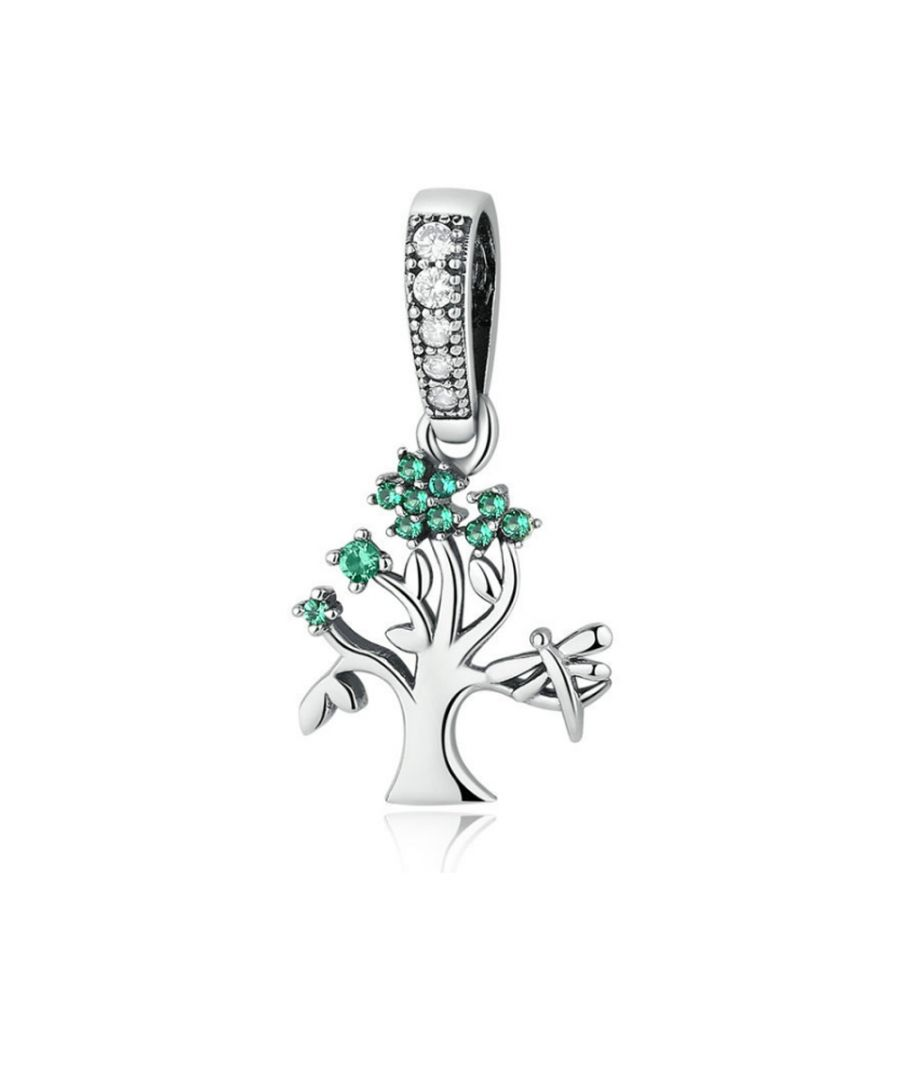 Image for White and Green Crystals Tree of Life Pendant Charms bead