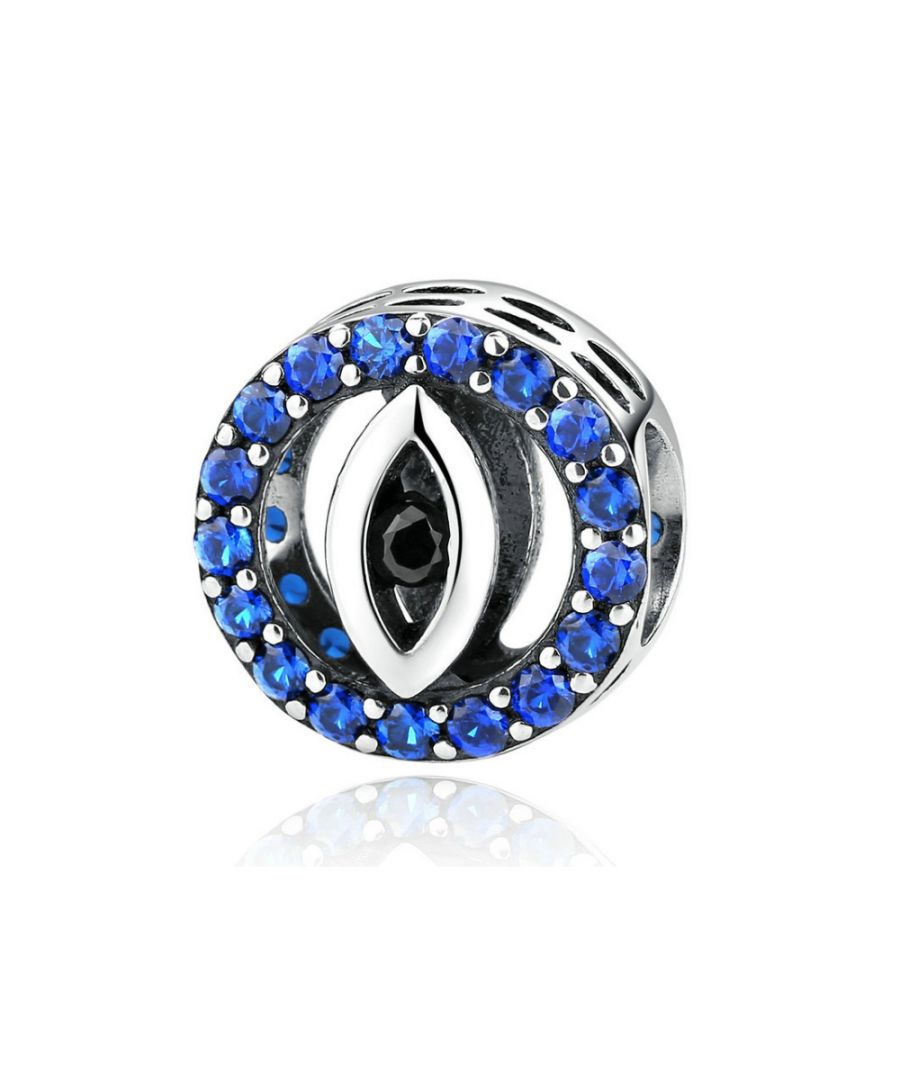 Image for Blue Crystal Eye Charms Bead and 925 Silver