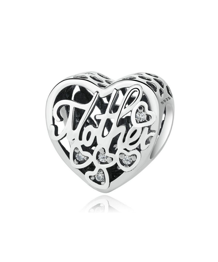 Image for 925 Silver Mother and Son Heart Charms Bead