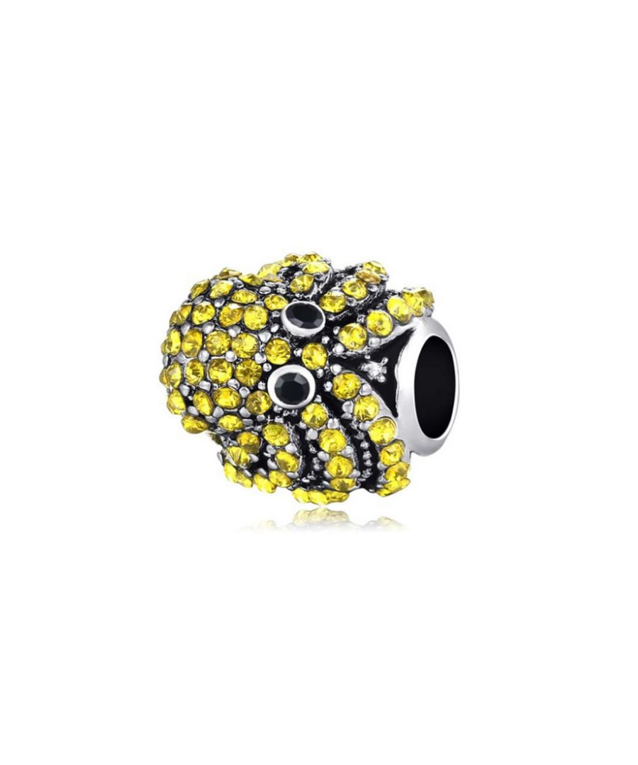 Image for Yellow Green Crystal Octopus Charms bead