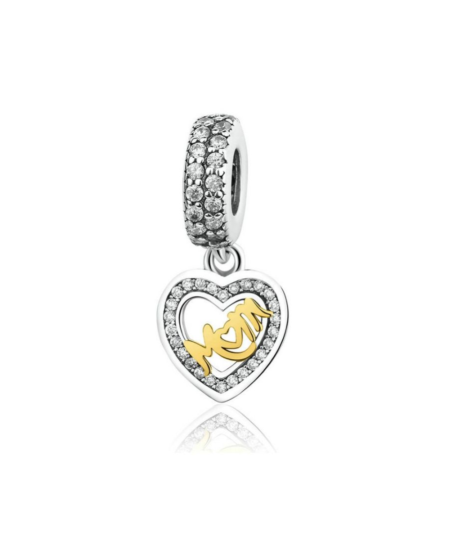 Image for 925 Silver Mother Heart Pendant Charms Bead