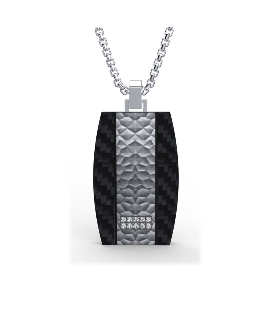 Image for Black Carbon and Cubic Zirconia Stones Men Pendant