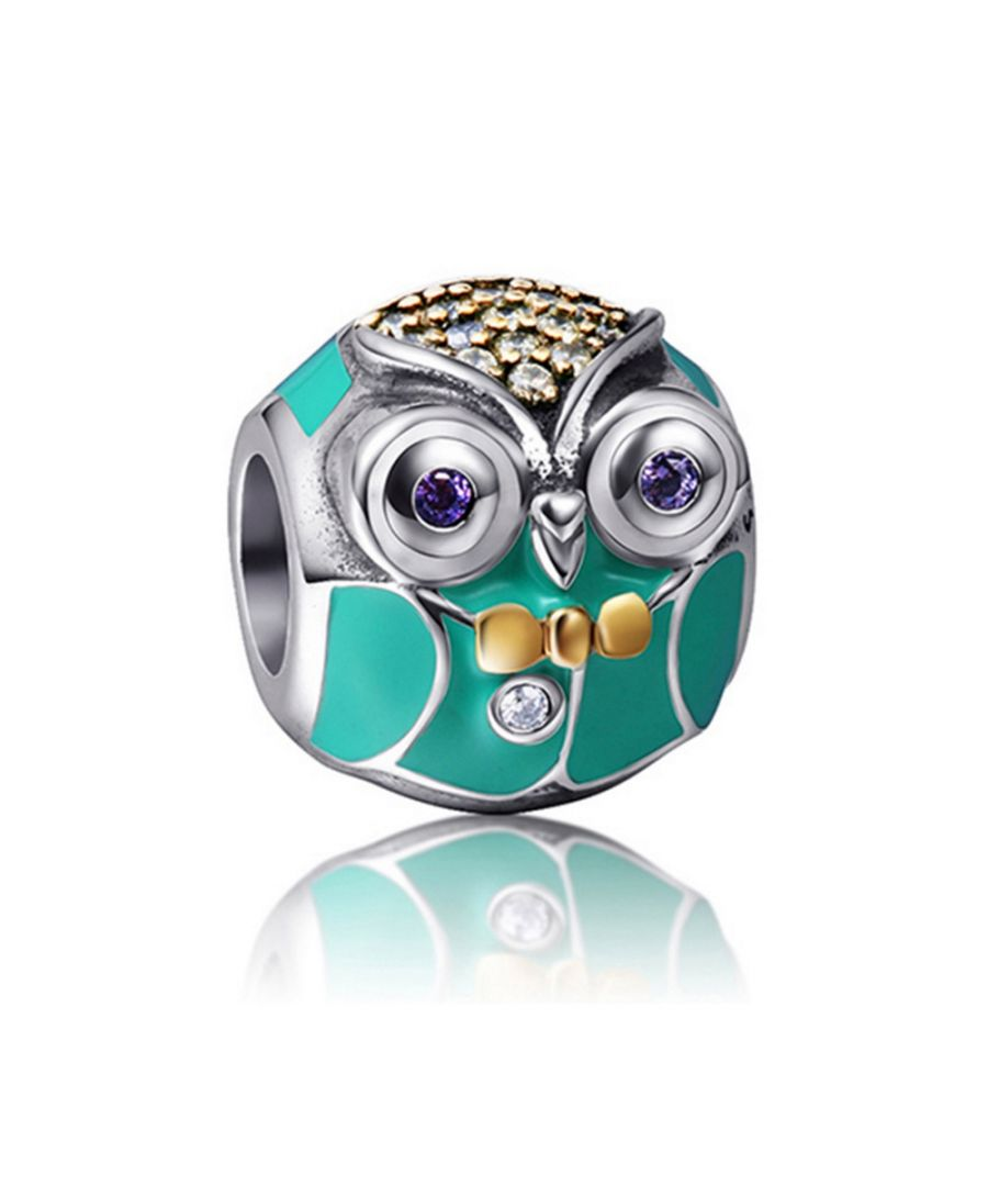Image for 925 Silver Owl Charms bead