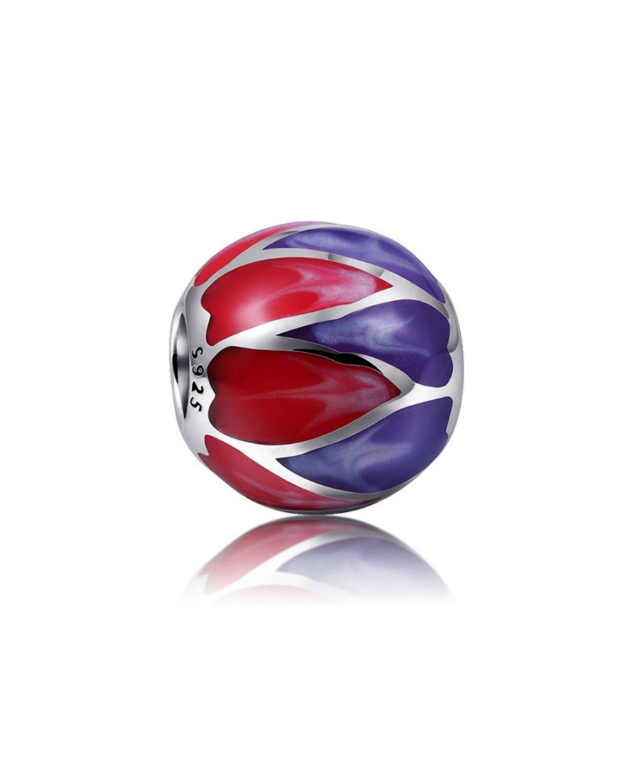 Image for 925 Silver Purple and Red enamel Charms bead