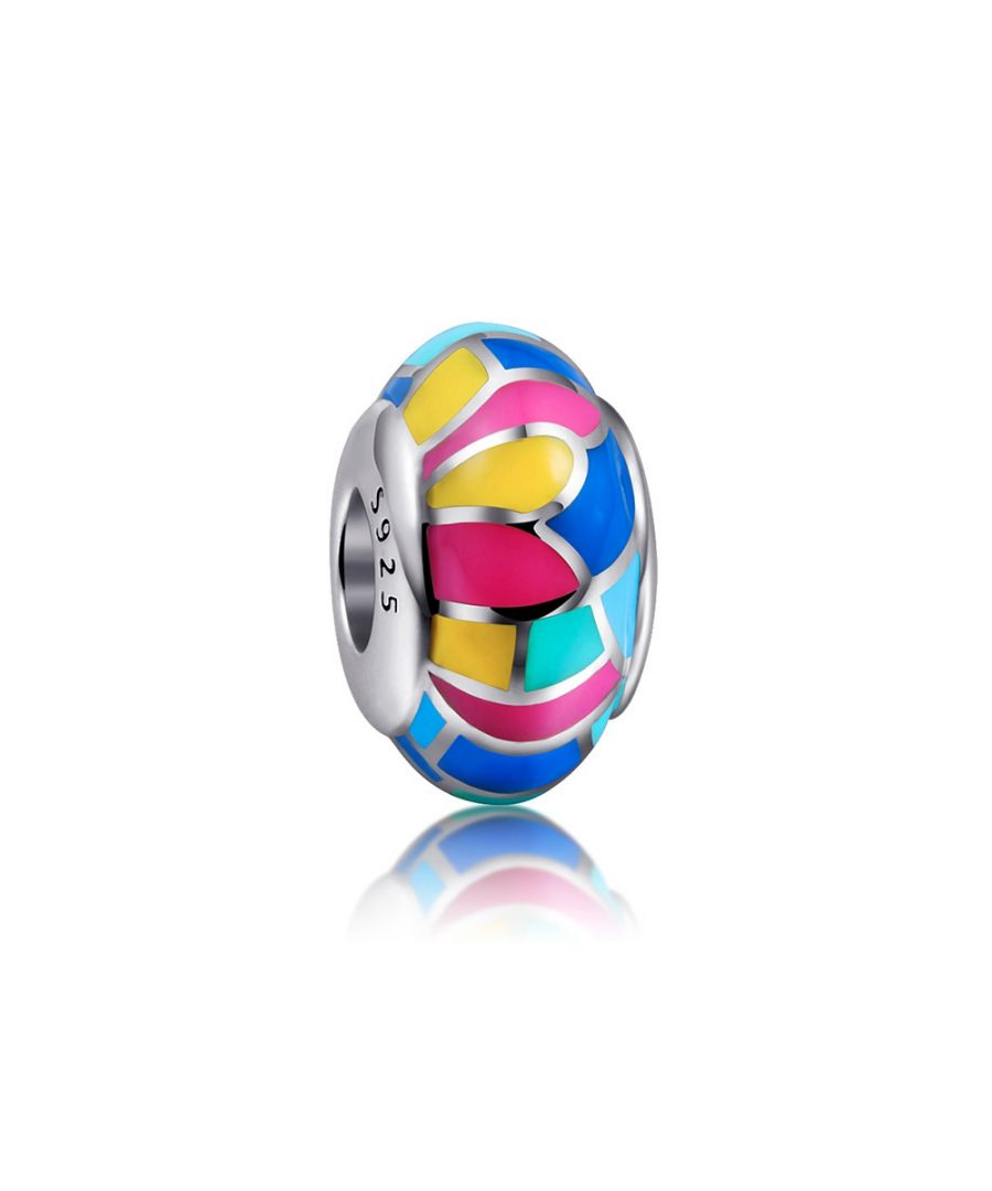 Image for 925 Silver Multicolor enamel Charms bead