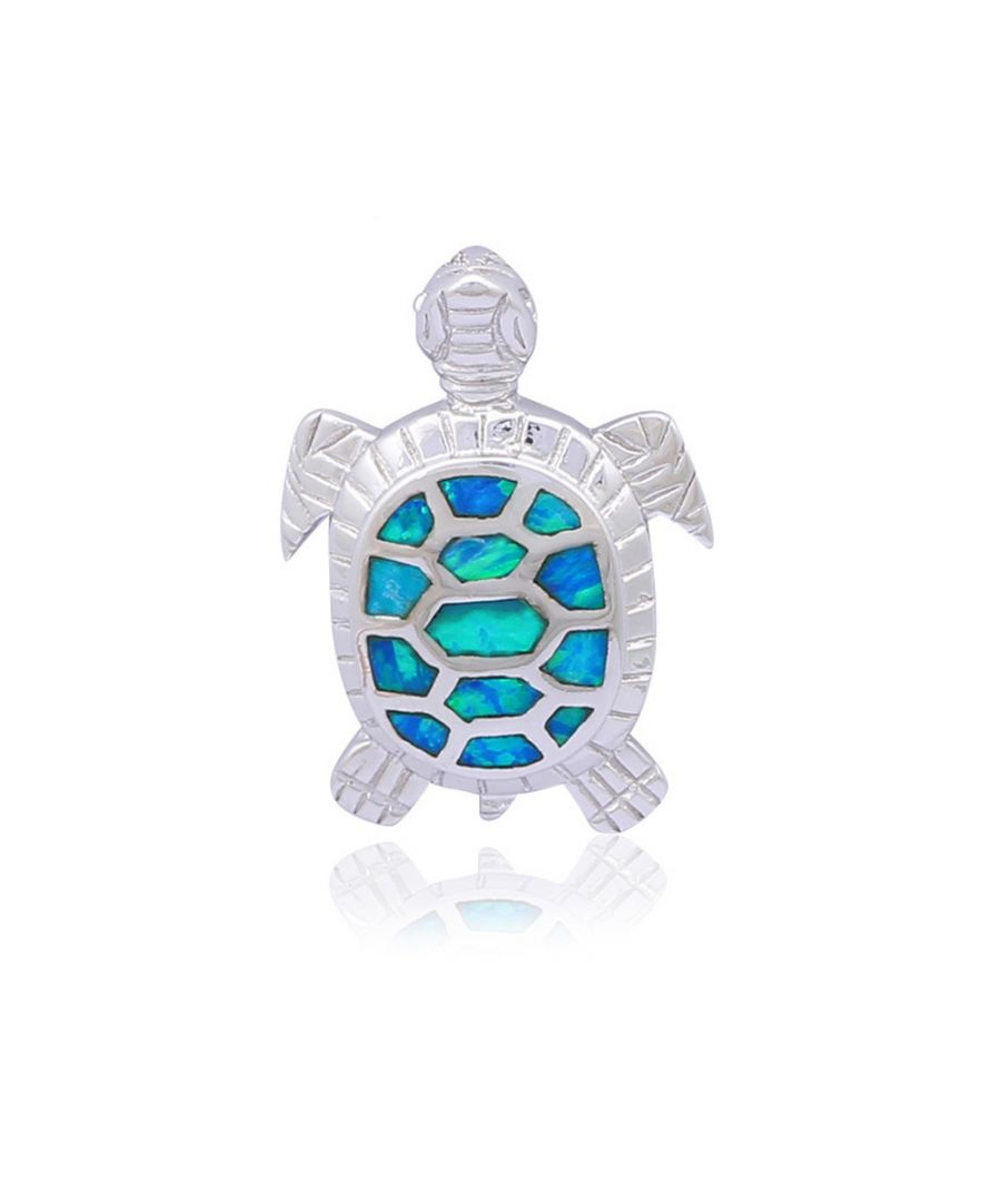 Image for Opal Turtle Pendant and Silver Plated