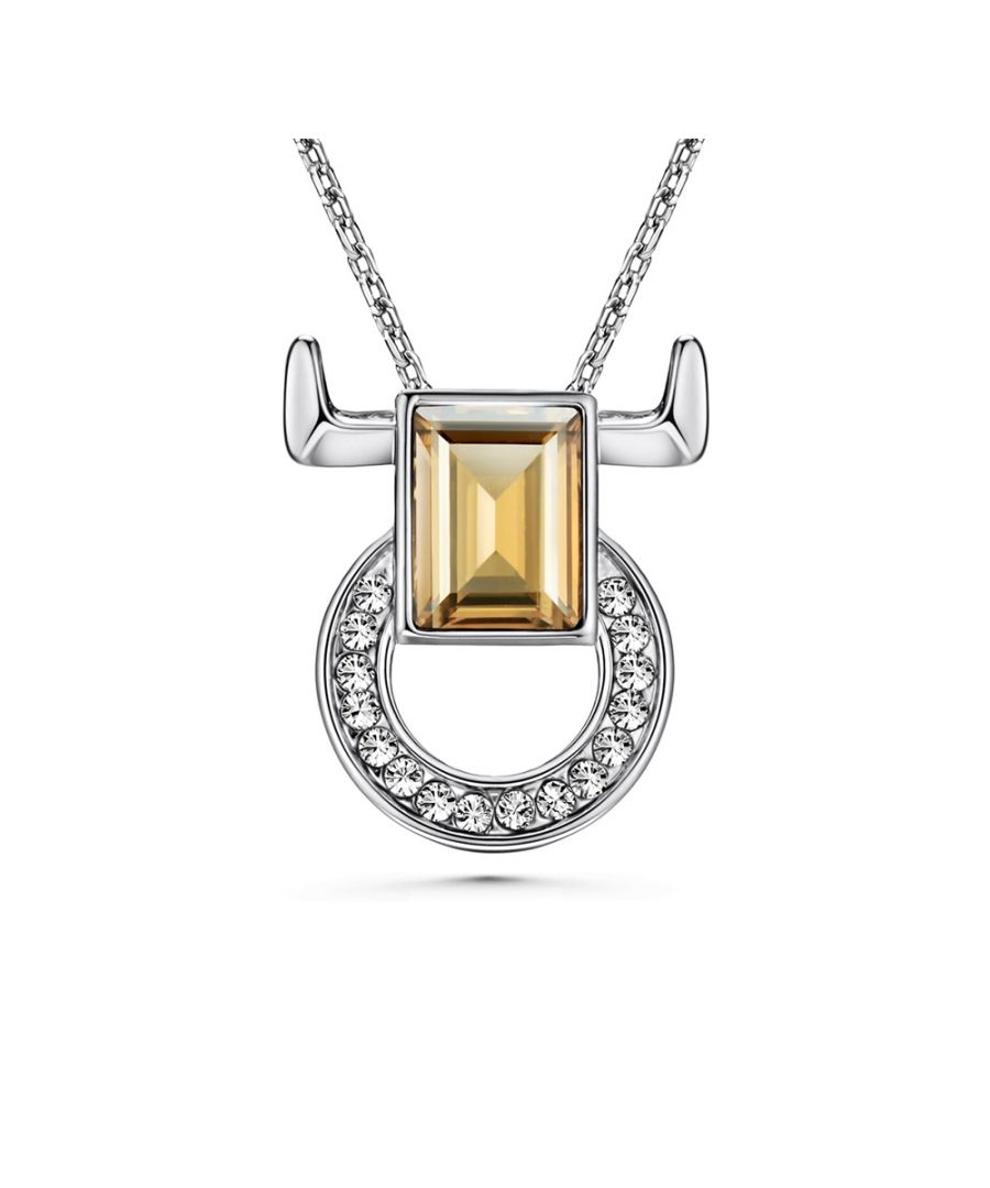 Image for Swarovski - White and Champagne Swarovski Elements Crystal Taurus Pendant