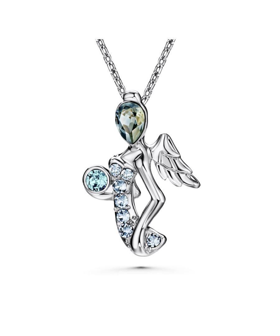 Image for Swarovski - Blue Swarovski Elements Crystal Virgin Pendant