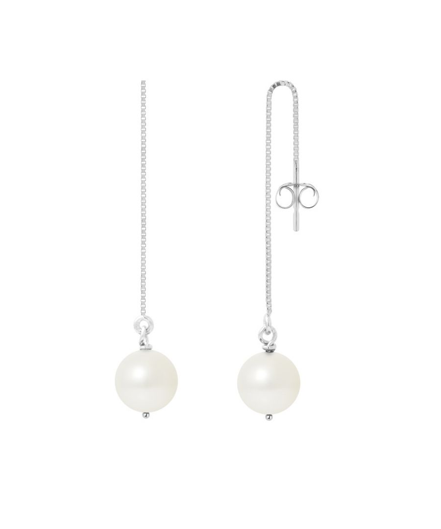 Image for White Cultured Pearls and 925 Silver Dangling Earrings