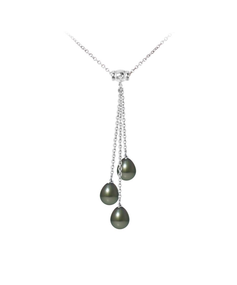 Image for 3 Tahitian Pearls and 925 Sterling Silver Woman Necklace
