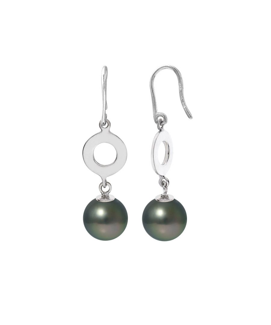 Image for Black Tahitian Pearls Dangling Earrings and Silver 925/1000
