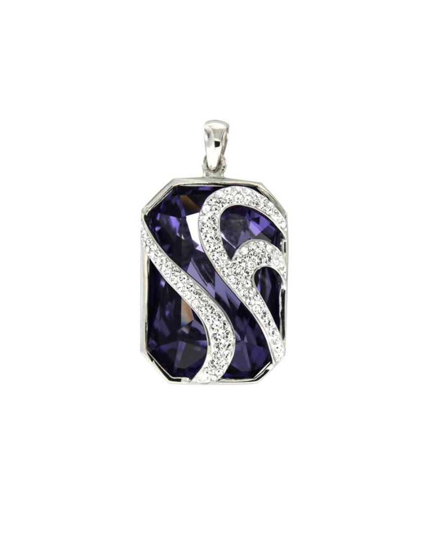 Image for Swarovski - Purple Swarovski Elements Crystal Pendant and 925/1000 Silver Mounting