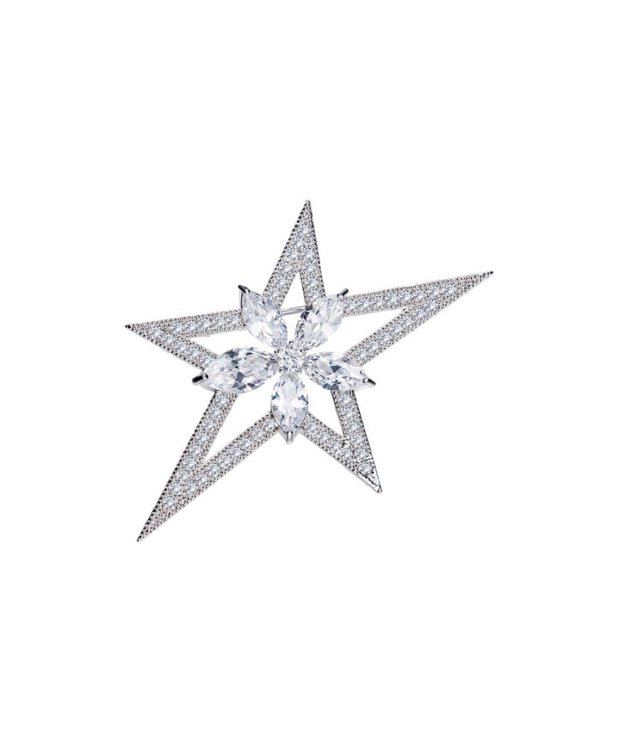 Image for Swarovski - Woman Brooch Star White Crystal Swarovski