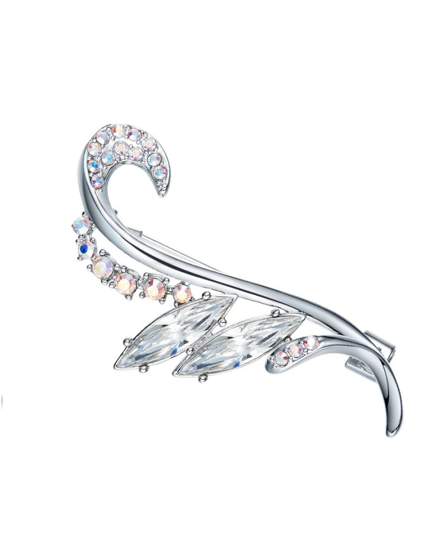 Image for Swarovski - Woman Brooch White Crystal Swarovski