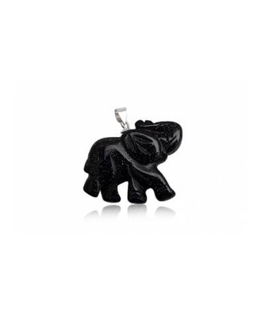 Image for Elephant Pendant in Blue Sandstone and 925 Silver