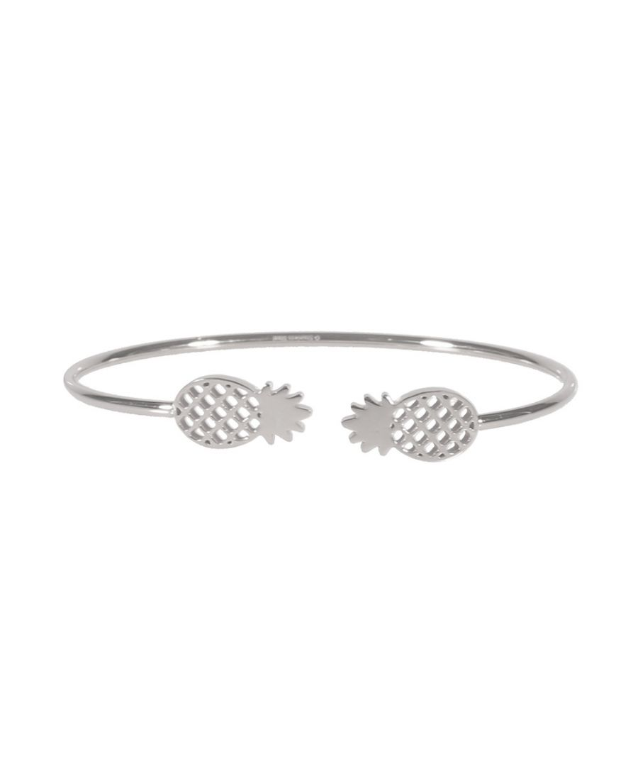 Image for Pineapple Woman Bangle Bracelet in Silver Steel