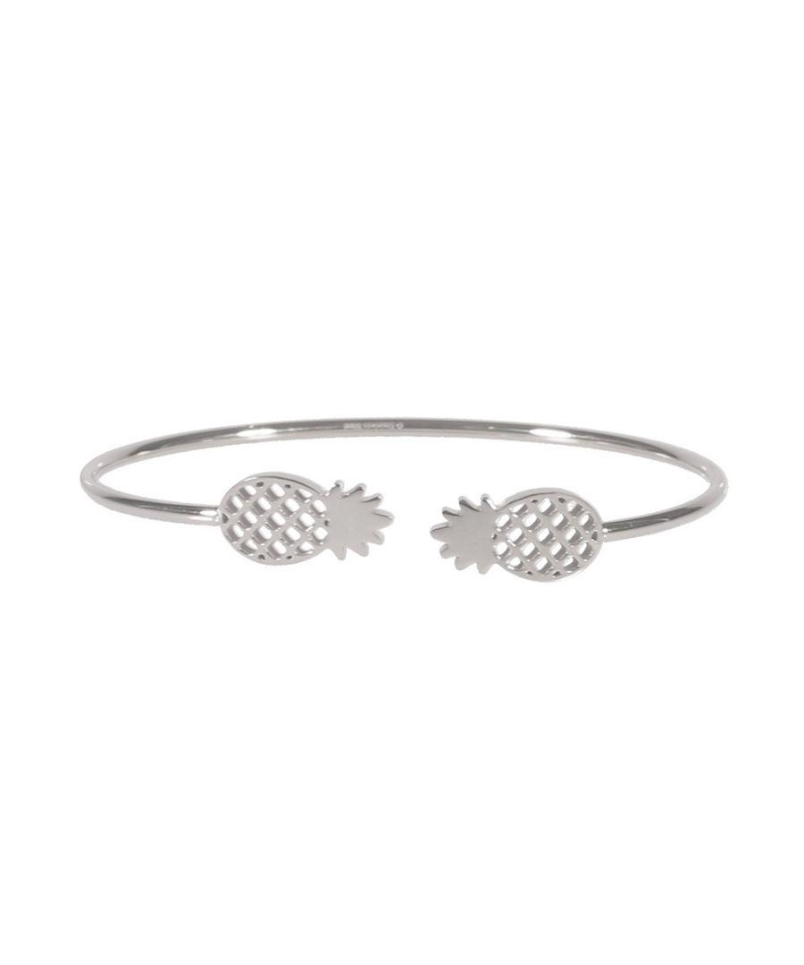 Image for Pineapple Woman Bangle Bracelet in Silver Steel