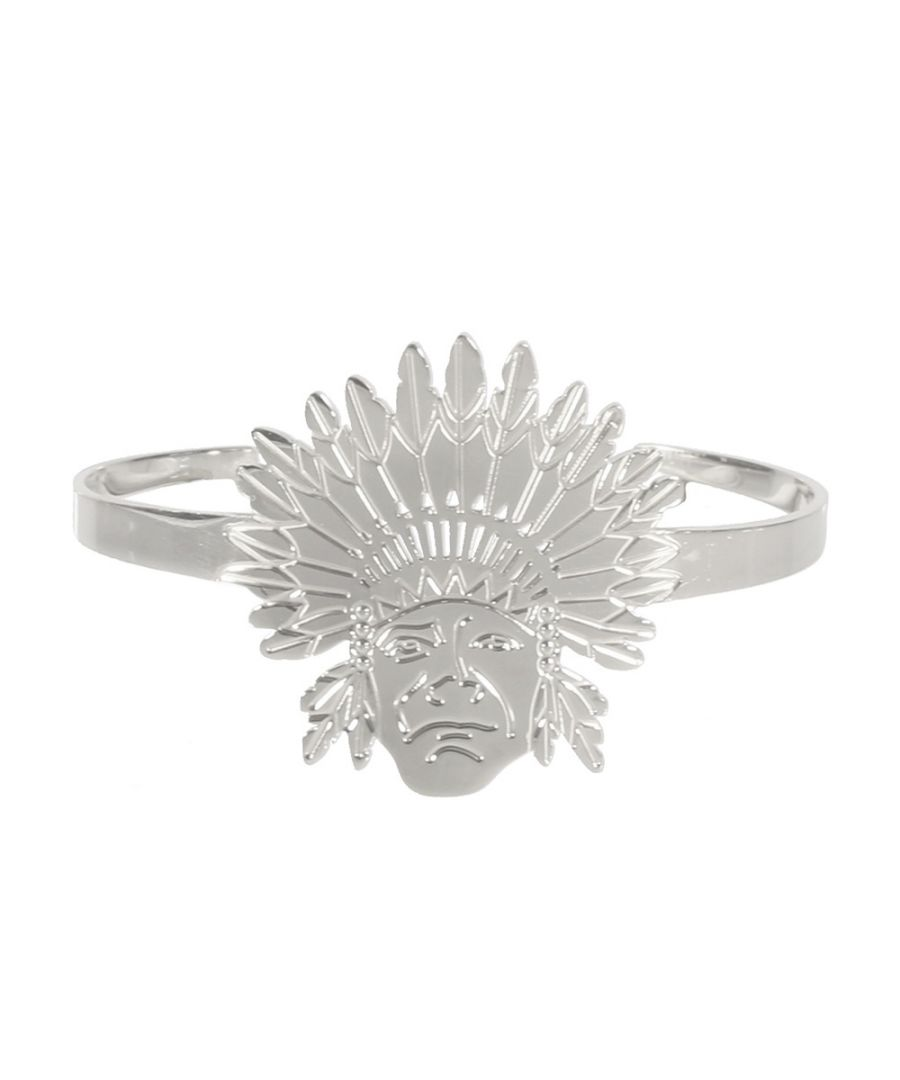 Image for Indian Chief Woman Bangle Bracelet in Silver Steel