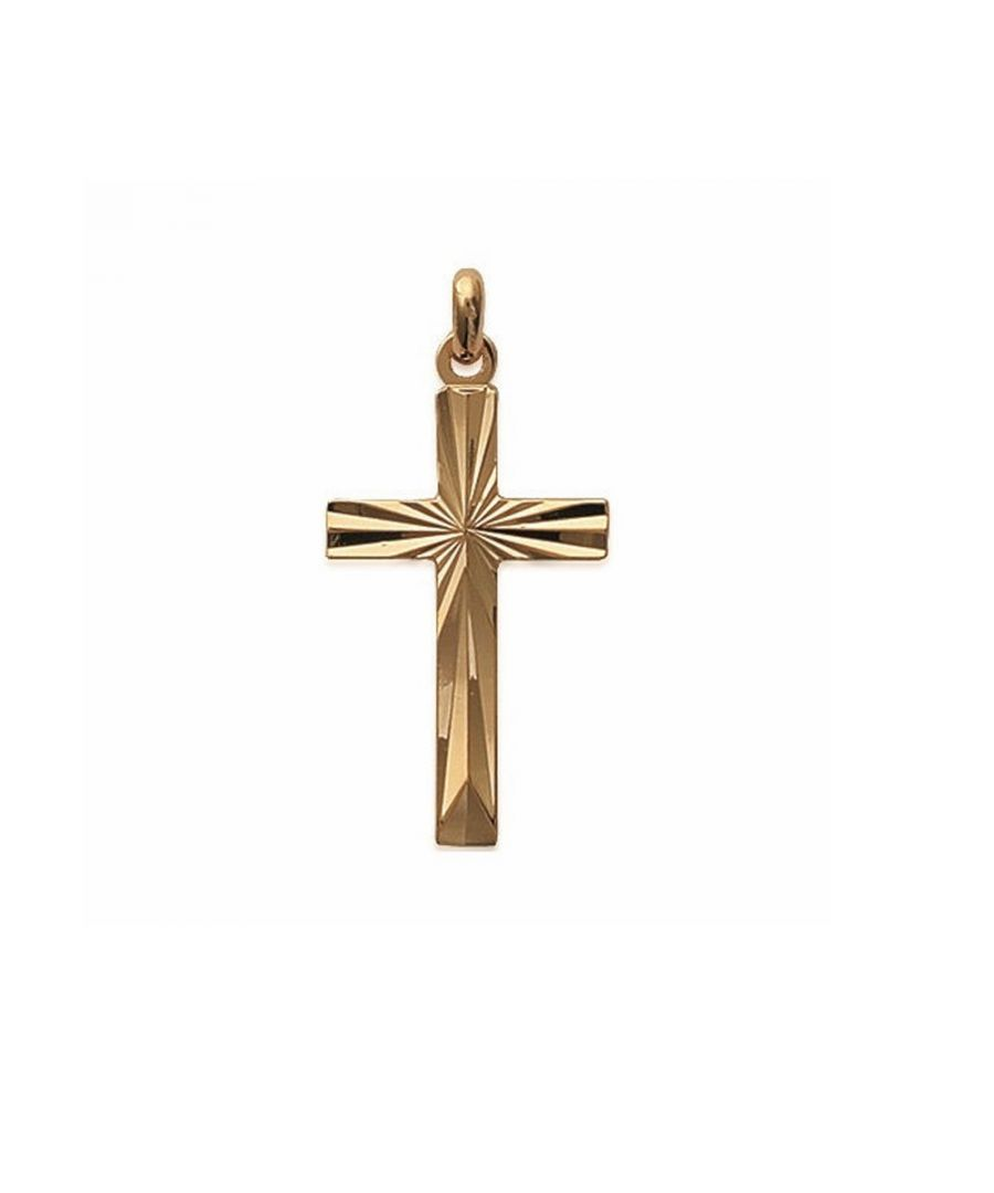 Image for Yellow Gold Plated Women or Men Cross Pendant