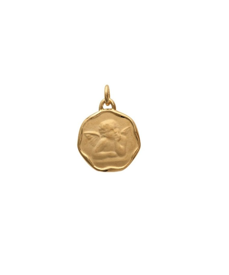 Image for Angel Christ Woman-Man-Child and Yellow Gold Plated Pendant