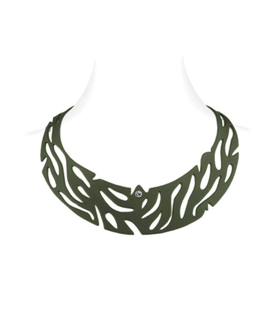 Image for Khaki Silicone Gum Jungle Necklace Effect Tatto
