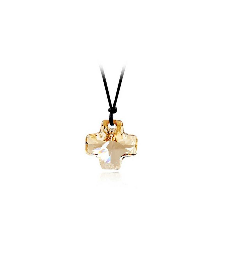 Image for Swarovski - Gold Swarovski Elements Crystal Cross Necklace