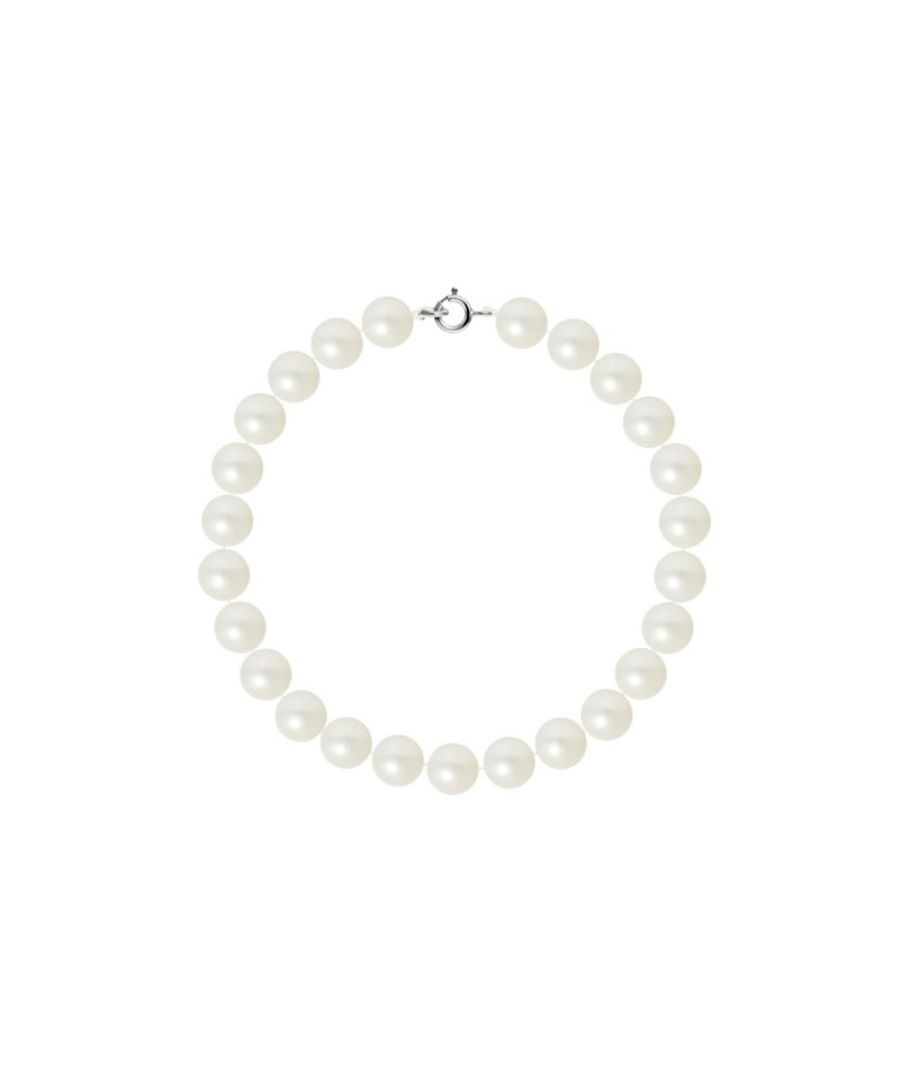 Image for AA White Freshwater Pearl Women Bracelet and 750/1000 White Gold Clasp