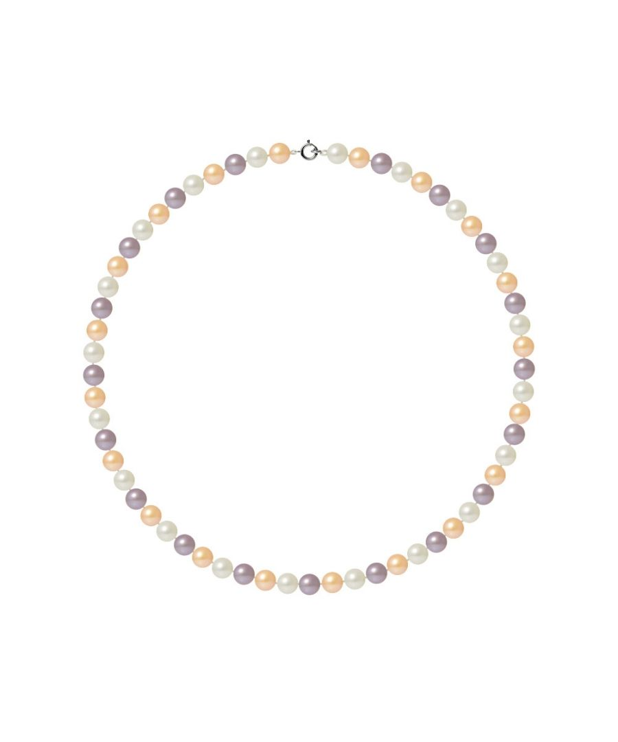 Image for AA Multicolor Freshwater Pearl Women Necklace and 750/1000 White Gold Clasp