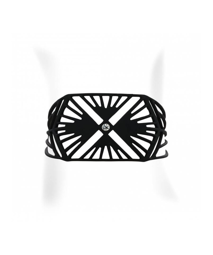Image for Black Silicone Gum Charleston Bracelet Effect Tatto