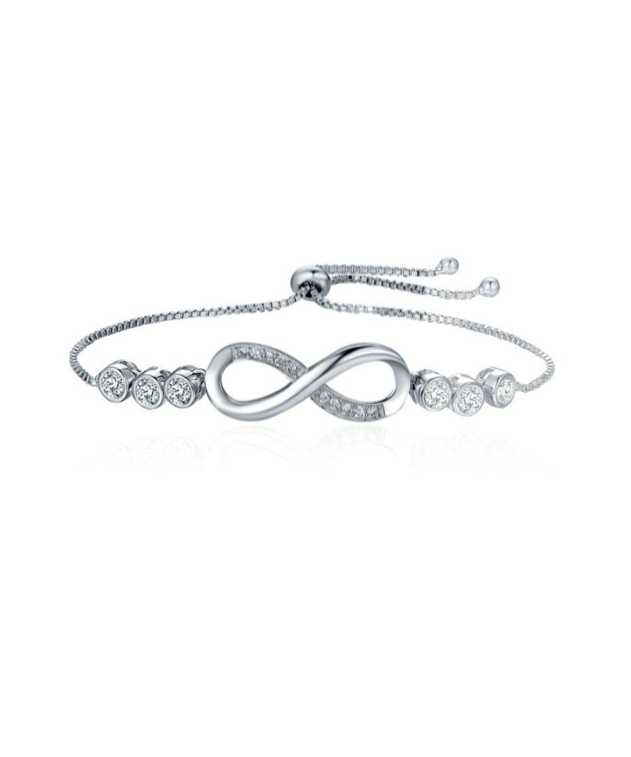 Image for Swarovski - Infinity Bracelet with White Swarovski Crystal