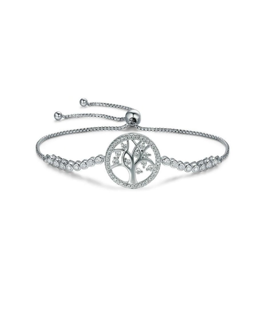 Image for Swarovski - Tree of Life Bracelet with White Swarovski Crystal and 925/1000 Silver