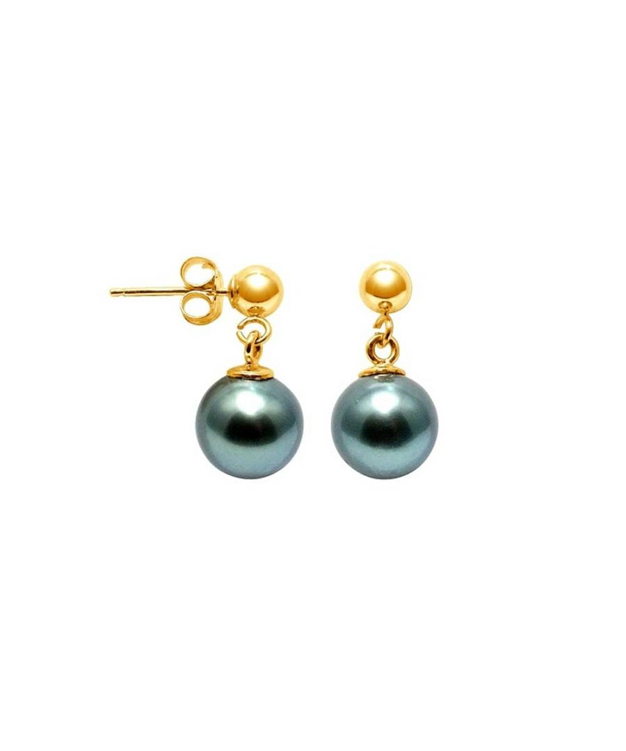Image for 8 mm Tahitian Pearls Earrings and yellow gold 750/1000