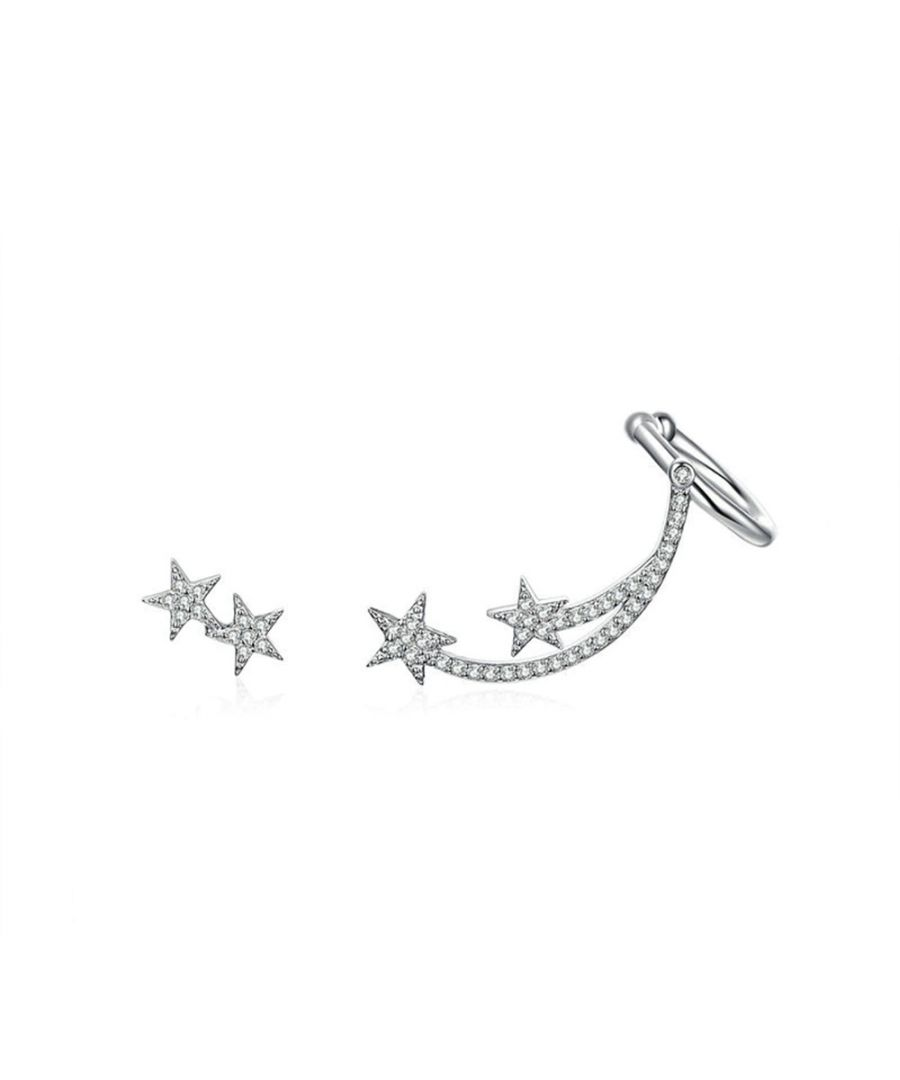 Image for Swarovski - Star Women's Earrings made with White Crystal from Swarovski and 925 Silver