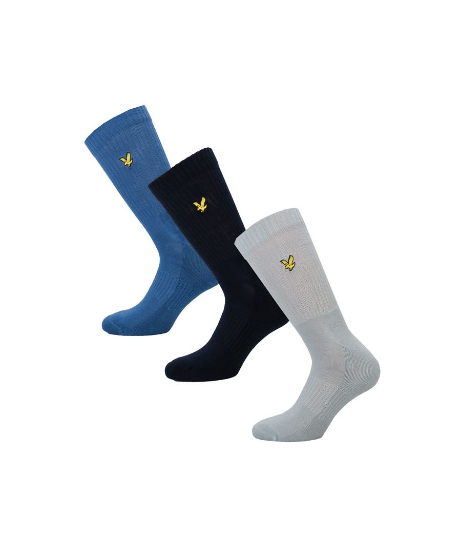 Image for Men's Lyle And Scott Hamiton 3 Pack Socks in Blue